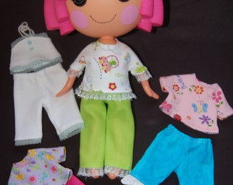 "PDF pattern Lalaloopsy Pattern  Summer Wardrobe for 12"" Lalaloopsy dolls- sewing pattern- make it yourself"