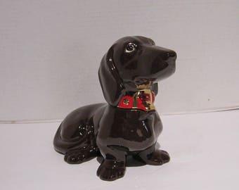 Chocolate Brown Dachshund Cookie/Candy Jar