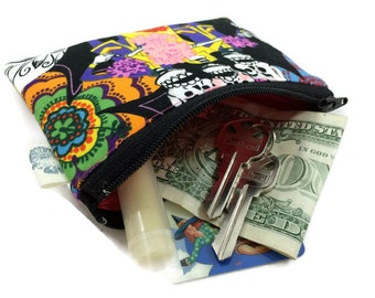 Coin Purse Coin Bag Small Cosmetic Clutch Day of the Dead