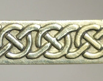 5.5mm Wide Celtic Knots II Brass Ring Stock, Ring Band, Jewelry Supply