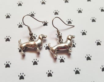Dachshund earrings, Sausage dog earrings, Dog earrings, Dangle earrings, Dog lovers, Sausage dog lovers, Dachshund owners, Dogs