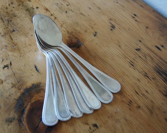 Vintage EPNS A1 Sheffield England Silver Plated Soup Spoons Vintage Sheffield England Silver Plated Flatware from The Eclectic Interior