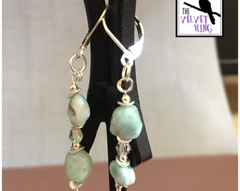 Caribbean Sea Crystal Earrings