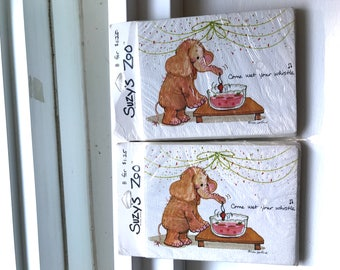 Vintage 2 Sets Of Suzy's Zoo Party Invitations In Original Packages