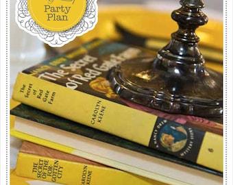 Mystery Party Plan - Mystery Party - Nancy Drew Party Plan - Nancy Drew Party - Detective Party Plan - Detective Party - Girls Birthday