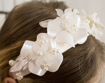 Hair tires made of 3d printed flowers