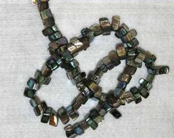 Abalone, Abalone Bead, Triangle Bead, Shell, Shell Bead, Abalone Triangle, Full Strand, 12 mm