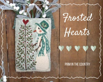 Frosted Hearts Punch Needle Pattern