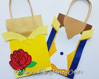 Beauty and The Beast Party Favor Bag