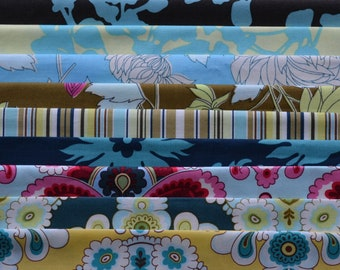 Fabric SALE, Amy Butler Fabric, Fat Quarter Bundles,  Chrysanthemum Flower, French Wallpaper, Quilting Fabric, Cotton, Fabric Closeout Sale