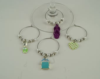 Girl's Night Out Wine Charms-4pc