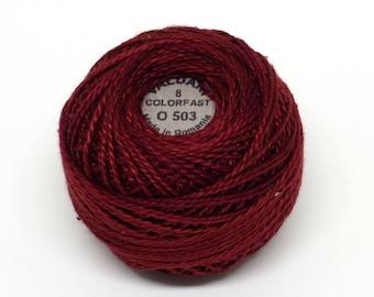 Valdani Pearl Cotton Thread Size 8 Variegated: #O503 Garnets