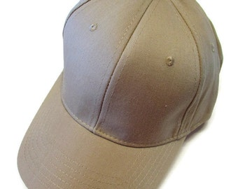 Tan Cap Hat Cotton Twill Monogrammed Custom Embroidery for men or women