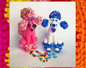 Amigurumi Dog Pattern Crochet Lady Poodle Pompony Christmas gift Amigurumis toy patterns Knitted dog tutorial New year symbol Diy kit
