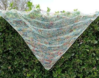 shawl handknitting made in French