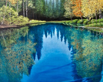 "Print- ""The  Blue Pool"" (Various Sizes)"