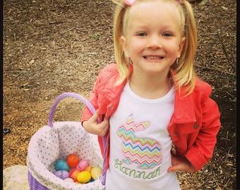 Bunny Silhouette Easter Tshirt Easter Bunny Shirt