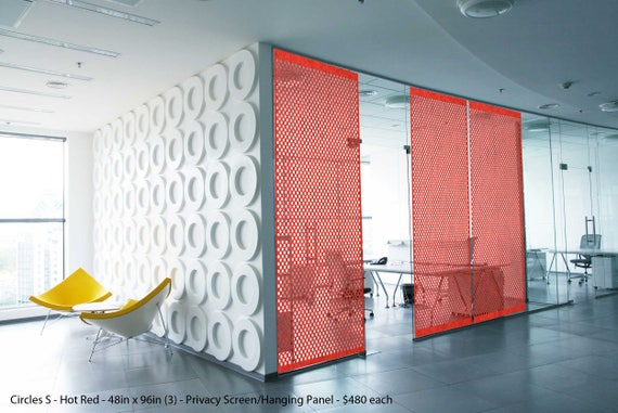 Laser Cut Designer Felt Panels and Dividers: Interior Room