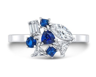 Something Blue Cluster Ring