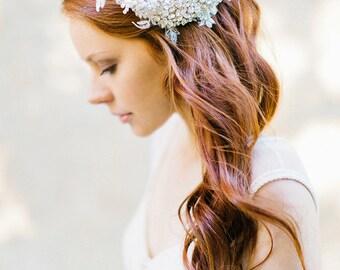 Hochzeitshaarkamm, Kristall Kopfschmuck, Kopfschmuck, Crystal Haare kämmen, Haare kämmen, Spitze Kopfschmuck, floralen Haarkamm - Stil 330