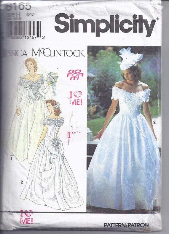 Simplicity Sewing Pattern 1992. Jessica McClintock Bridal