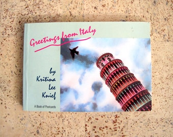 Vintage Postcards from Italy Book of 25 Hand Tinted Cards Greetings from Italy Kritina Lee Knief