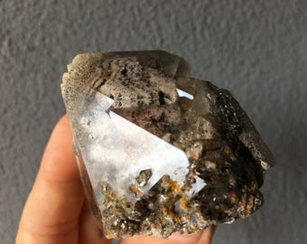 Shamanic Dream Quartz Crystal, Shaman's Dream Stone, Green Chlorite, Minas Gerais, Brazil HP135