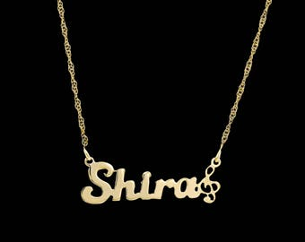 Personalized Name Necklace - Custom Name Necklace - Nameplate Necklace - Gold Name Necklace - Personalized Jewelry - Personalized Gift - BFF
