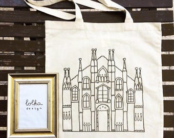 MILANO Print Canvas Bag