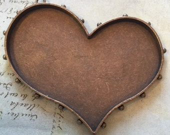Antique Brass Large Heart Bezel