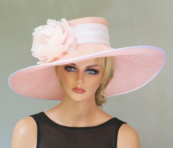 Kentucky Derby Hat, Wedding Hat, Wide Brim Hat, Derby hat, Formal hat, Ascot Hat, Garden Party Hat