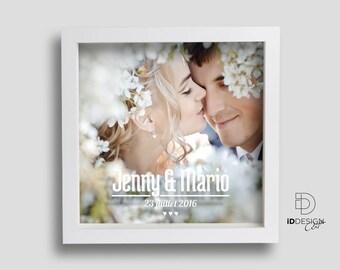 Cadre photo personnalisé, mariage, couple, amour, famille, enfants