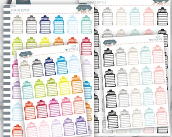 I008 | Hydrate Bottles [Planner Stickers]