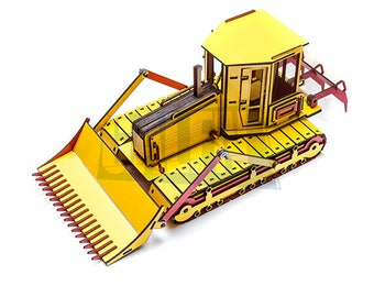 Galfn Bulldozer 3D Puzzle - 200 Pcs