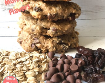 Baked Lactation Cookies for increasing breast milk supply, Moms Make Milk| Choose your flavor