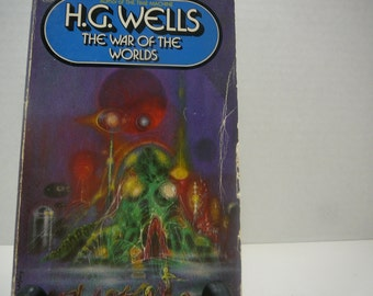 War of the Worlds, 1981, H.G. Wells, Vintage Sci fi, vintage book