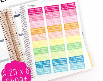 LS233 Summer Palette Little Things MDN Headers!  Set of 60 Vinyl Planner Stickers, Perfect for the Erin Condren Planner!!!
