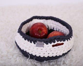 Crochet basket/ Storage basket/ Multifunctional box/ Nursery basket/ Home decor d=20 cm