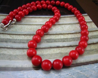 Sea Life, Red Coral Necklace