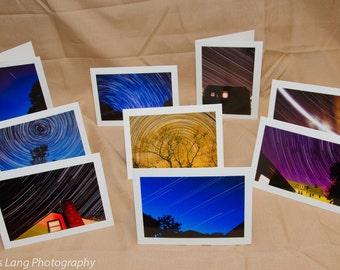 Star Trail Photo Note Cards