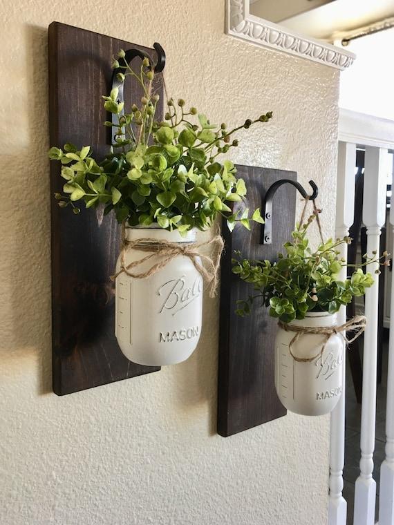 Mason Jar Hanging Planter Home Decor Wall Decor Rustic