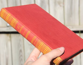 Vintage Hardcover Book--El Sombra/Red book/Literature/Fiction/Vintage Decor