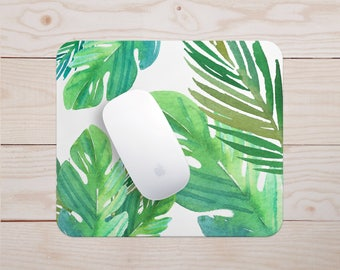 Tropical Mousepad | Palm Leaves Mouse Pad, Mousepad, Computer Mousepad, Mouse Mat, Tropical Mousepad, Office Desk, School Supplies,