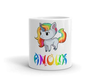 Anouk Einhorn Tasse | Geschenk für Anouk