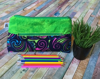 Colorful pencil case, Pocket for pencils, Cosmetic Bag, Storage pouch