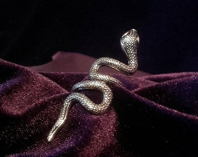 Serpent snake Huge ring  - snake gothic occult lucifer baphomet serpent ring satan