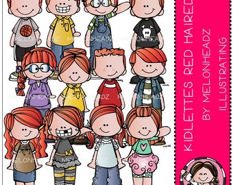 Kidlettes clip art - Red Haired