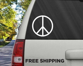 Peace Sign Love Against War Peace and Love Inspiring Happy Justice Politics Car Bumper Glass Mirror Sticker Vinyl Logo Decal