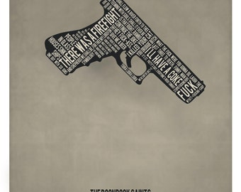 Minimalist Boondock Saints Poster/Print with Quotes (Gun)