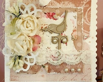 Shabby Chic Greeting Card made in England